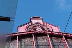 2018-10-01 Anvers, Belgique : Couvrez l'arête de la chambre forte en verre de la gare ferroviaire de central d'Anvers photos stock