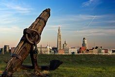 Anvers et le fleuve Scheldt images stock