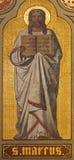 Anvers - fresque de St Mark l'évangéliste dans le presbytère de Joriskerk ou l'église de St George. du cent 19. Photographie stock