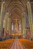 Anvers - Nave de Joriskerk ou d'église de St George. du cent 19. Image libre de droits