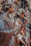 Anvers - statue d'ange comme symbole de virtous cardinal dans l'église de St Pauls (Paulskerk) Image libre de droits