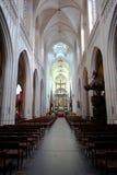 Anversa, Belgio - 19 giugno 2011: Interno della cattedrale della nostra signora Immagine Stock Libera da Diritti