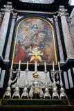 Anversa, Belgio - 19 giugno 2011: Interno della cattedrale della nostra signora Immagini Stock