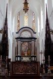 Anversa, Belgio - 19 giugno 2011: Interno della cattedrale della nostra signora Immagini Stock Libere da Diritti