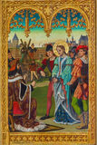 Anversa - giudizio di Giovanna d'Arco del san da J. Anthony a partire dall'anno 1898 dall'altare laterale nuovo-gotico nella catte Immagini Stock