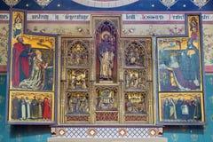 Anversa - St Joseph nuovi - altare laterale gotico nella cattedrale della nostra signora Fotografie Stock