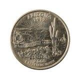 1 anverso 2008 de Arizona de la moneda del cuarto de Estados Unidos fotos de archivo libres de regalías
