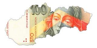 anverso del billete de banco de la corona del slovak 100 en la forma de Eslovaquia libre illustration