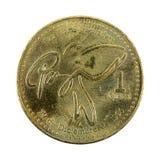 1 anverso guatemalteco de la moneda 2000 del quetzal imagenes de archivo