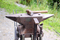 Anvil. Tool for one hoof-forge stock image