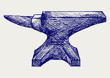 Anvil. Sketch. Doodle style. Vector Royalty Free Stock Images