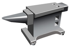Anvil. 3d illustration of anvil, professional tool Stock Photography