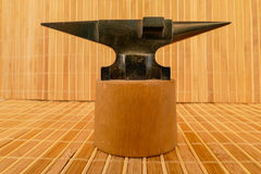 Anvil on base. For decoration Royalty Free Stock Image