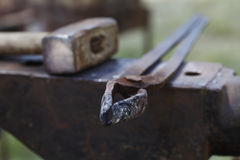 Anvil , blacksmith tools close-up Stock Photos