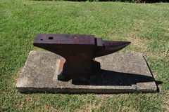Anvil exhibit at the Memphis Ornamental Metal Museum, Memphis Tennessee Stock Images
