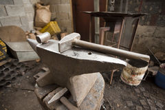 Anvil and hammer Royalty Free Stock Photography
