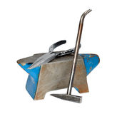 Anvil with a hammer andflat-nose pliers Stock Photos