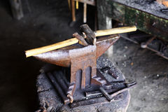 Anvil and hammer Royalty Free Stock Image
