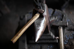 Anvil and hammer Stock Photography