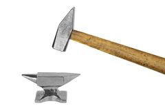 Anvil and hammer Stock Photos