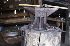 Anvil and hammers Stock Image