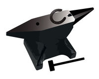 Anvil and horseshoe Stock Image