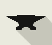 Anvil icon illustrated Royalty Free Stock Photo