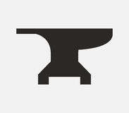 Anvil icon illustrated Royalty Free Stock Photography