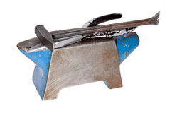 Anvil with intrument Royalty Free Stock Photography