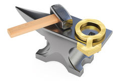 Anvil with male gander symbol, 3D rendering Stock Photos