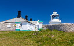 Anvil Point Lighthouse. The 1881 Anvil Point Lighthouse on the coast of Dorset England UK Europe Stock Photography