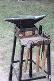 Anvil and sledgehammers. The tools of a forger Royalty Free Stock Images
