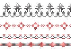 Anvisning för korsstygngränser av ramar Arkivbilder