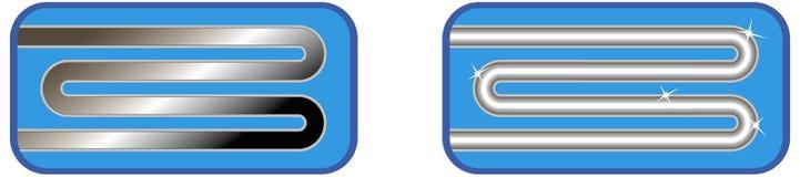 Anweisungs-Ikone für Wäscherei,   vektor abbildung
