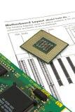 Anweisungshandbuch mit CPU stockfotos
