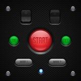 Anwendersoftware-Kontrollen des Kohlenstoff-UI eingestellt vektor abbildung