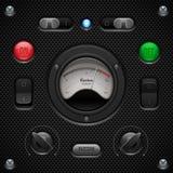 Anwendersoftware-Kontrollen des Kohlenstoff-UI eingestellt Lizenzfreie Stockbilder