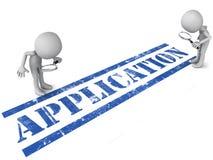 Anwendung in Überprüfung Lizenzfreie Stockbilder