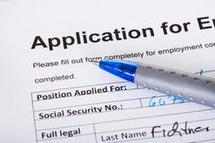 Anwendung der Beschäftigung Stockbild