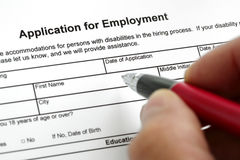 Anwendung für Beschäftigung Stockfoto