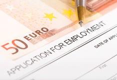 Anwendung für Beschäftigung Lizenzfreie Stockbilder