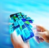 Anwendungen auf Mobile Stockbilder