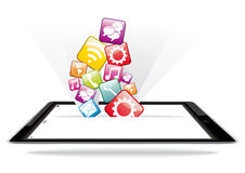 Anwendungen und Geräte Stockbild