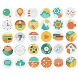 Anwendungs-Netz-Ikonen in flachem Design 3 Lizenzfreies Stockfoto