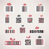 Anwesende Barcodevektor-Bildmenge Schablone für Ihr Stockbilder