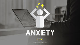 Anxiety Apprehension Medicine Nervous Panic Concept Royalty Free Stock Photo