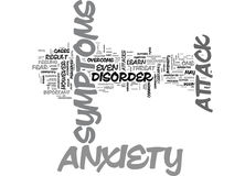 Anxiety Attack Heart Problems Word Cloud Royalty Free Stock Photography