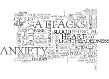 Anxiety Attack Symptoms Word Cloud Stock Images