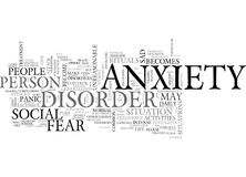 When Anxiety Becomes A Disorder Word Cloud Stock Photography