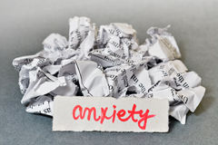 Anxiety Royalty Free Stock Photos
